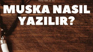 Photo of Muska hazırlanması, Yazımı.